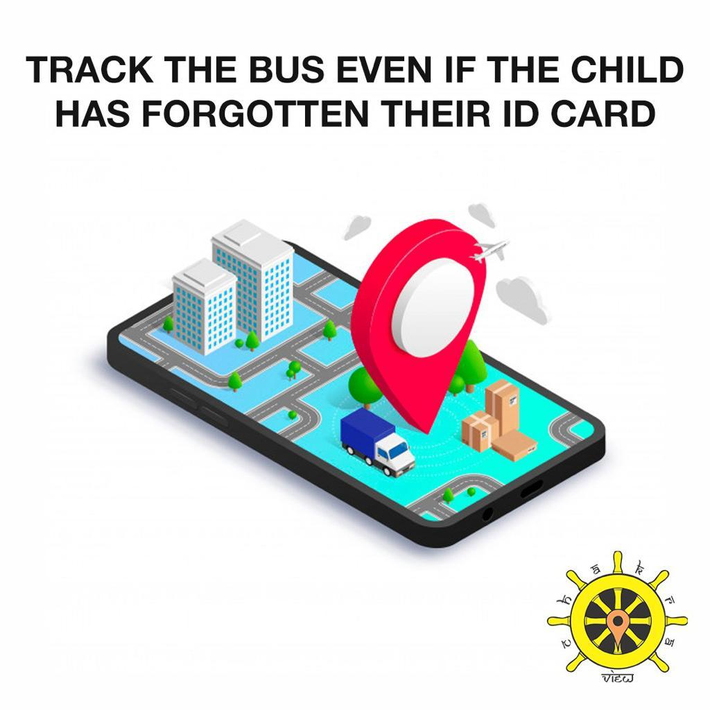 track the bus even if the child has forgotten the id card