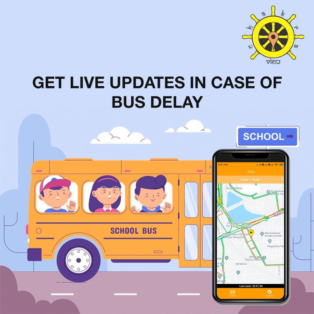 get live updates in case of bus delay
